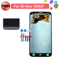 Silver Black Gold Super AMOLED LCD Display Touch Screen Full Assembly For Samsung GALAXY S5 Neo