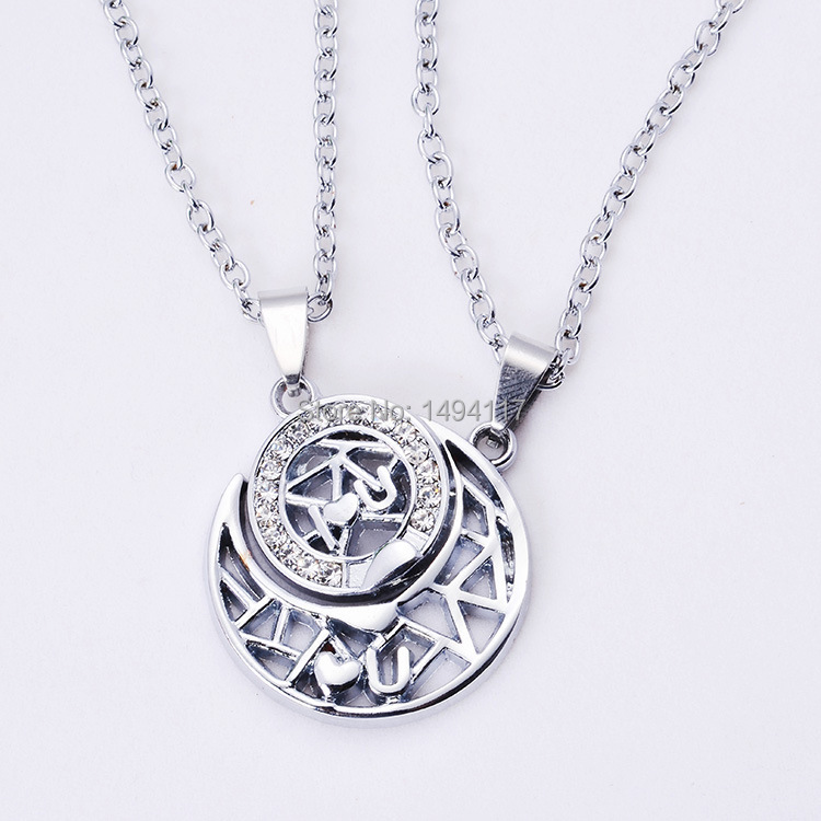 valentine s day gift sun moon couple necklace popular gifts for his