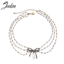 Joolim Vintage Gold Color Bowknot Multi-Layered Choker Necklace Party