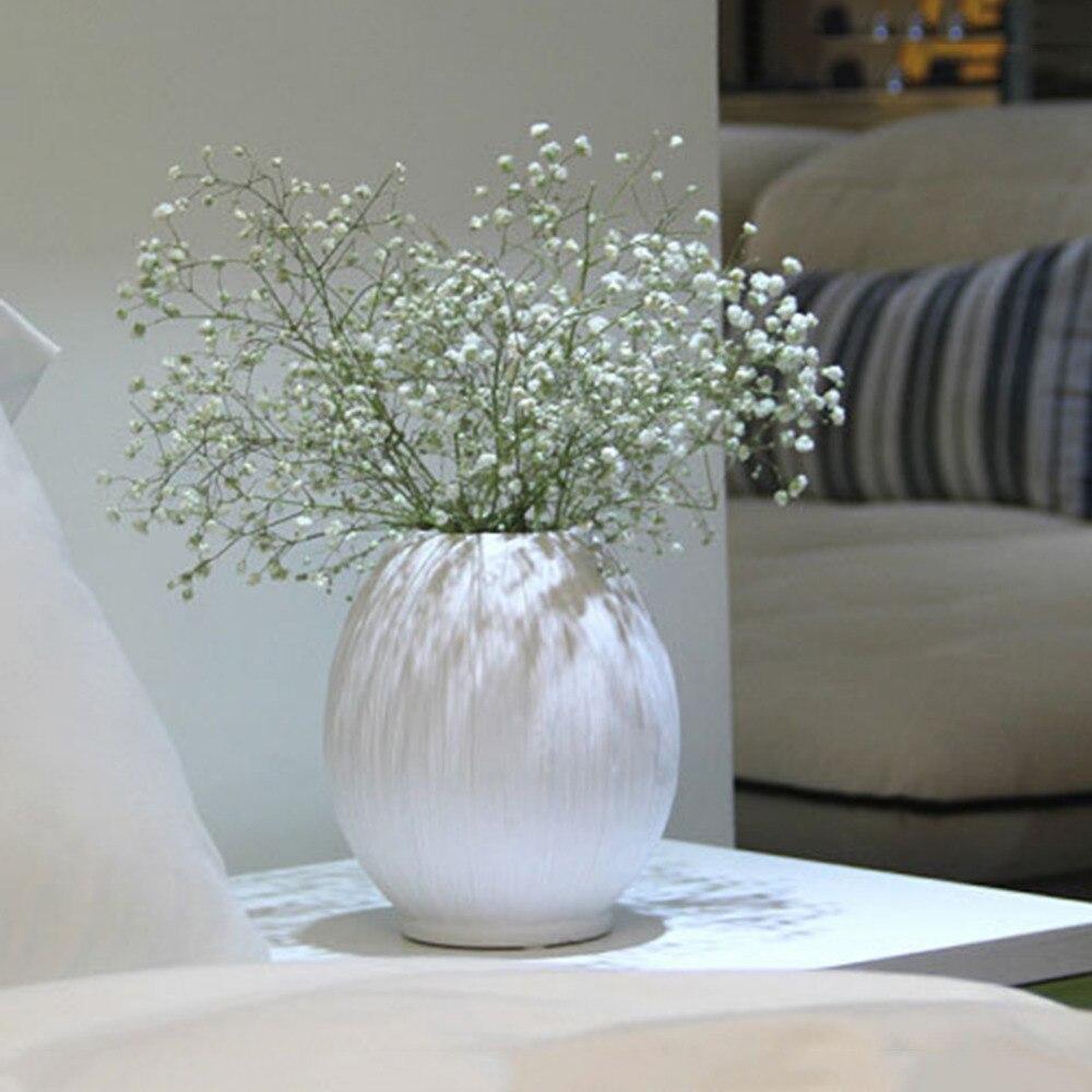 blanco florero de cermica para la decoracin casera moderna europea decorativo jarrones decoracin de la boda florero de mesa