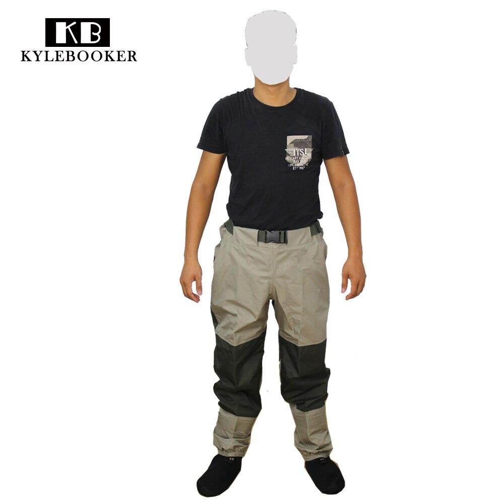 Fly Рыбалка Охота болотных брюки Для мужчин дышащая талии куликов Водонепроницаемый ветрозащитные Брюки Охота передач