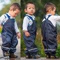 Topolino bebê calças de chuva calças acolchoadas meninos à prova d' água à prova de vento ao ar livre esqui pedaço da menina macacões crianças skisuit frete grátis