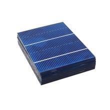 50 개/몫 78*52mm 0.66W 태양 전지 패널 미니 태양 광 시스템 DIY 배터리 전화 충전기 휴대용 태양 전지 Sunpower Painel 충전