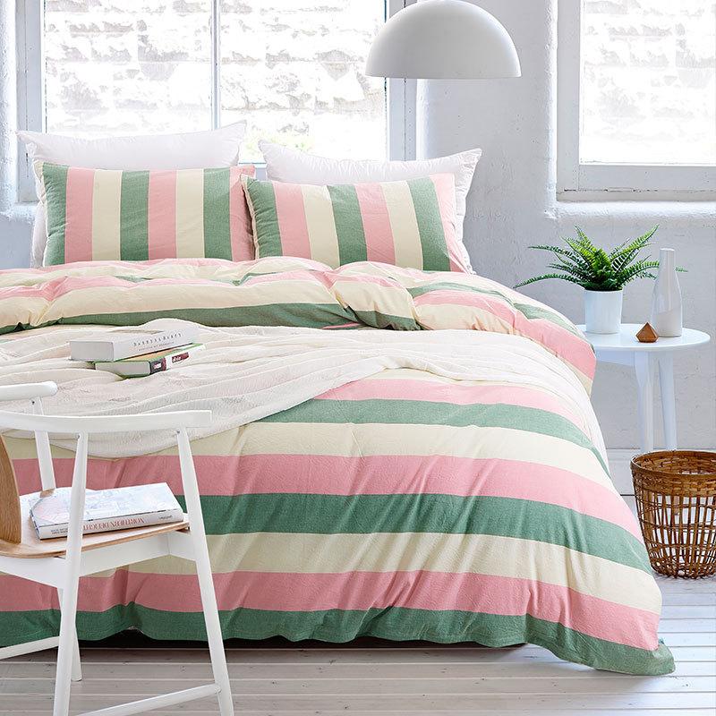 Aliexpress.com : Buy Stripe Bedding Set Washed Cotton ...