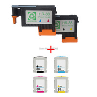 2x Remanufactured HP 88 C9381A C9382A Printhead Print Head 4PCS Ink Cartridge Compatible HP K550 K5400