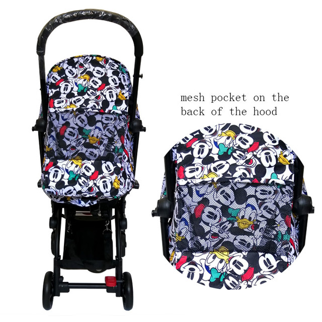 Stroller Hood & Mattress And 175 Cushion Seat Oxford Cloth Back With Mesh Pockets Stroller Accessories For Yoya yoyo Babytime