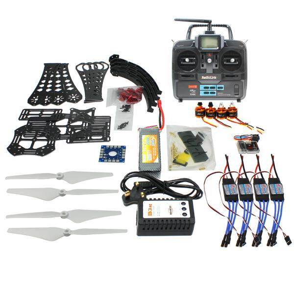 F14893-I DIY RC Drone Quadrocopter Full Set X4M380L Frame Kit QQSuper T6EHP-E TX mini drone rc helicopter quadrocopter headless model drons remote control toys for kids dron copter vs jjrc h36 rc drone hobbies