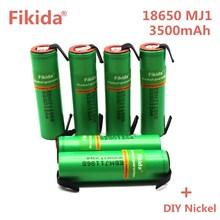 6 pcs Original para LG INR18650MJ1 10A descarga li-iony MJ1 18650 bateria célula de bateria 3500 mah baterias INR18650MJ1 + DIY nicke