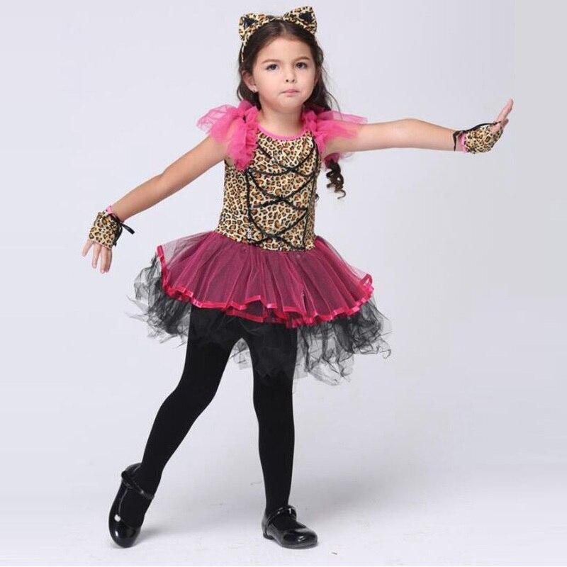 girls ballet skirt dresses halloween costume for kids cosplay children performance carnival party show cat girls - Ballet Halloween Costume