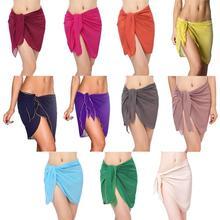 Women sexy beach skirt Beach Dress Sexy Sarong Bikini Cover-ups Wrap Pareo Skirts Towel Open-Back Swimwear Cover Up