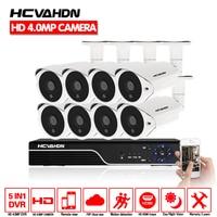 HCVAHDN SONY 4MP CCTV Surveillance Kit 5mp Security Camera System 8ch DVR NVR 5MP Video Output