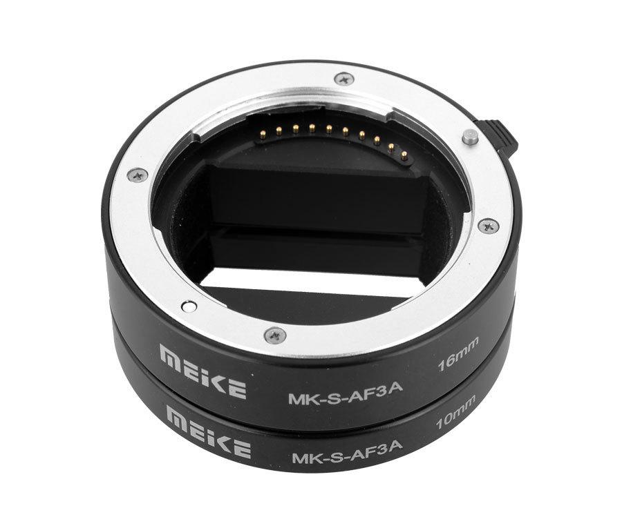 Prix pour Meike MK-S-AF3A Métal Auto Focus Ring Macro Extension Tube 10mm 16mm pour Sony Mirrorless a6300 a6000 a7 a7SII NEX E-Mont Caméra