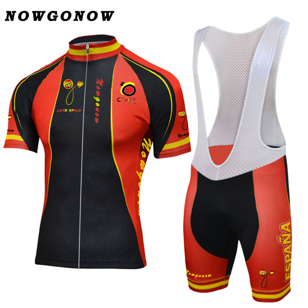 2018 spain national team cycling jersey set bike clothing wear black yellow  red maillot ciclismo tour 304150c08
