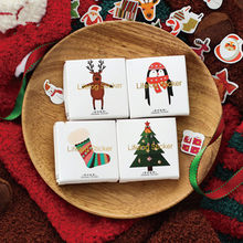 50 pcs/bag Cute Stationery Paper stickers Christmas theme tree Deer decoration DIY adhesive paper sticker Christmas Scrapbooking(China)
