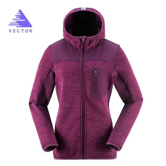 VECTOR Outdoor Jacket Women Warm Winter 100% Polyester Bodkin Fleece Camping Hiking Jackets Thermal Mountaineering Travel Coat