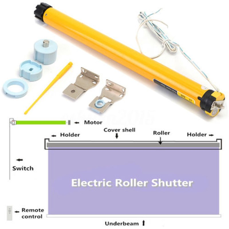 315mm Electric Curtains Roller Motor DIY 24V DC 300mA 7 2W 30RPM Electric Roller Blind Shade