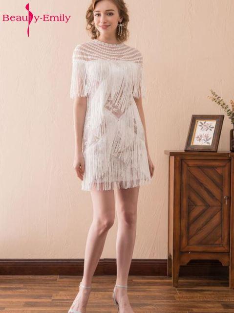 Aliexpress.com : Buy Beauty Emily 2017 New Arrival Short Ivory ...