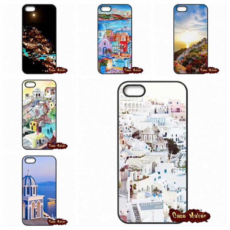 For LG G2 G3 G4 G5 HTC One M7 M8 M9 iPod Touch 4 5 6 iPhone 4 4S 5S 5 5C 6 6S Plus Beautiful Oia Santorini Greece Case Cover