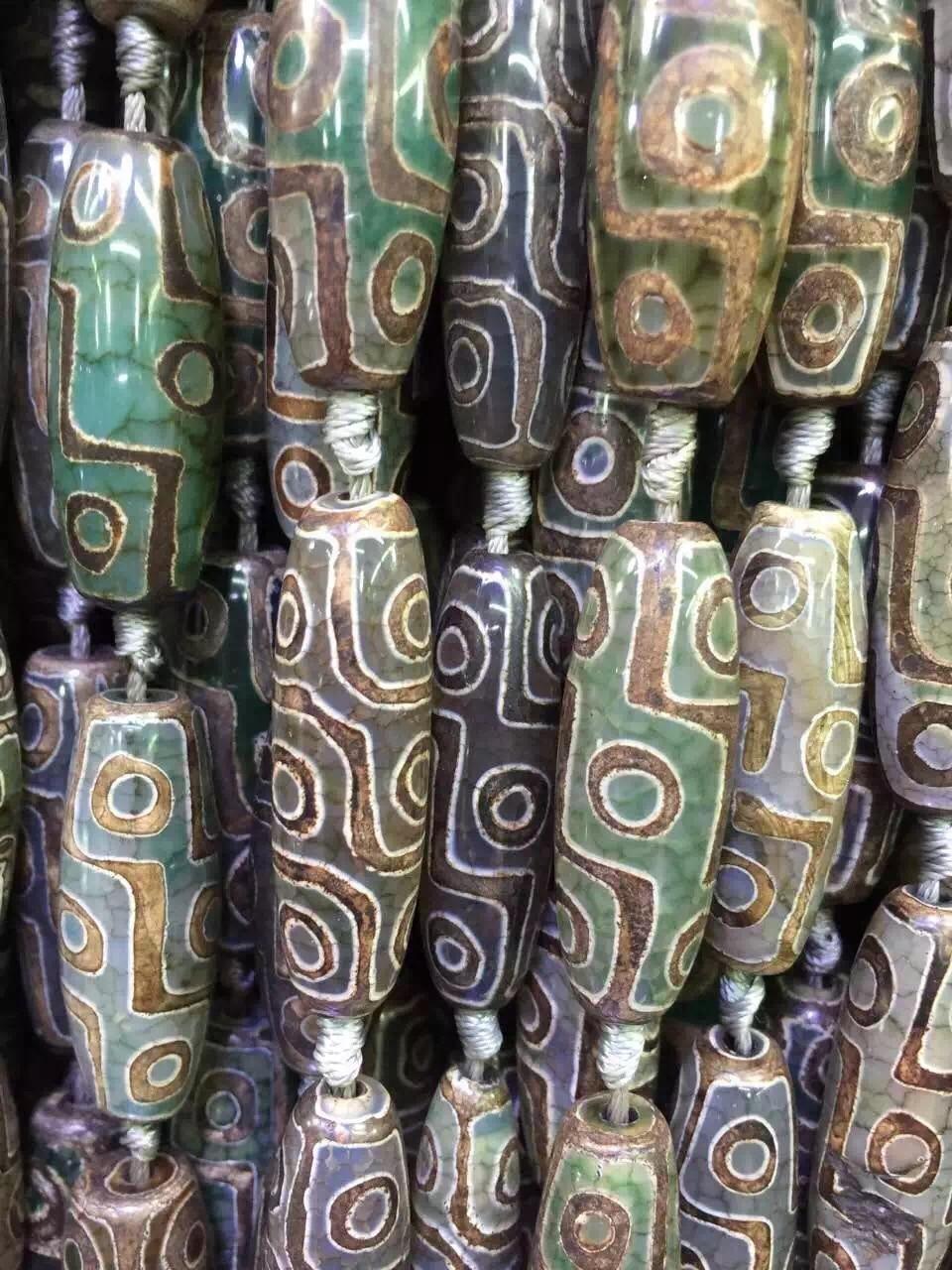 2 Strands Lot 9 Mata Alami Doa Mala Tibet Mystical Batu Dzi Heat Shrink Tube 03 Cm Solatip Bakar Selang Selongsong Beads Pesona Beras Gems Matte Turtleback Drum Bead