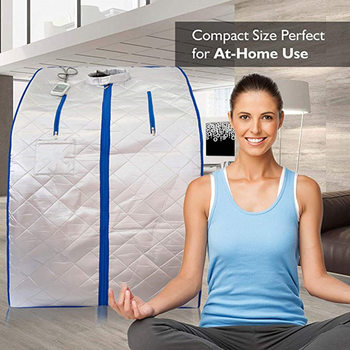 Far Infrared Sauna Slimming For Weight Loss Negative Ion Detox Therapy  Personal Fir Cabin Room With Folding Chair