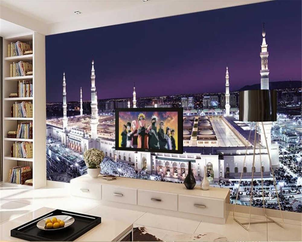 Beibehang Wallpaper Untuk Dinding 3 D Kustom Mekkah Masjid