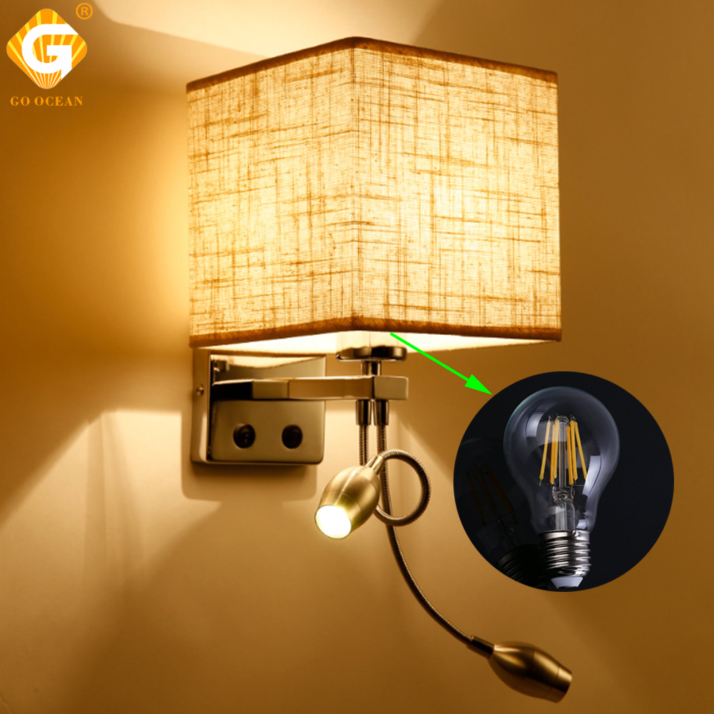 Wall Light Fixture With Switch: Wall Lights Lamp Sconce Switch Stairs Light Indoor