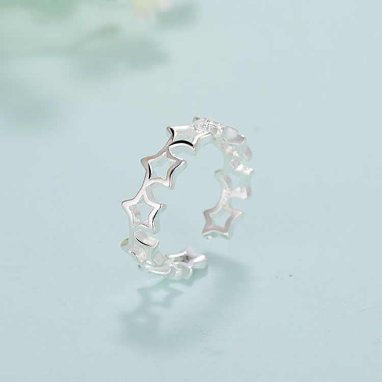 2019 Bijoux 925 пробы серебряная звезда кольца для женщин подарок дамы регулируемый размер античное кольцо Joyas De Plata Anillos