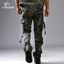 Fanchenyipin 2017 d'été nouvelle 3D camouflage urbain pantalon baggy uniforme plus la taille lâche occasionnel camo pantalon cargo pour hommes