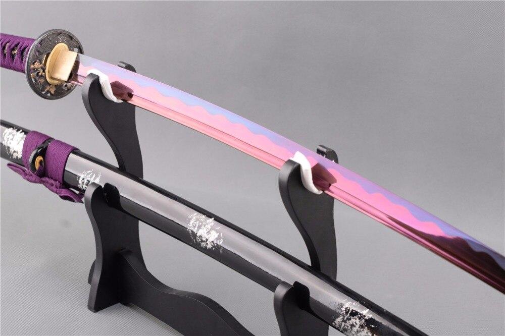 Brandon Swords Purple Samurai Japoneze Samurai Katana çeliku i - Dekor në shtëpi - Foto 4