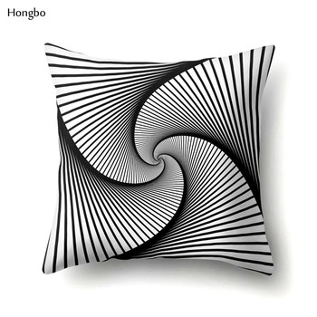 цена на Hongbo Geometry Pillow Case Abstract Black White Striped Dotted Grid Geometric Art Pillow Cases Cover almohada