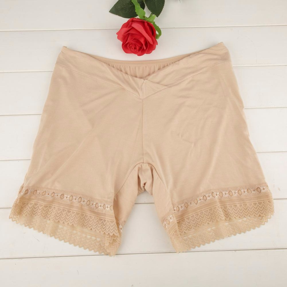 2Pcs/Sets Soft Modal Maternity Panties Safety Short Pants New 3 Colors Lace Boxer For Women Pregnant Underwear Pregnancy Clothes