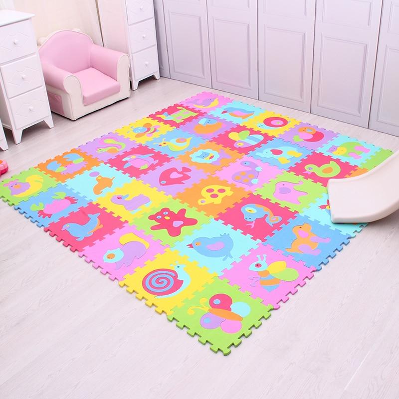 Tapis de jeu de modèle d'animal de bande dessinée pour des enfants tapis de Puzzle de mousse d'eva tapis rampant de bébé tapis de jeu de plancher mou de gymnase Mei Qi Cool