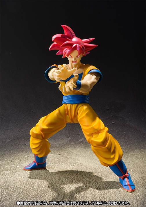 Anime Dragon Ball Z SHF Figuarts Super Saiyan God Goku Joint Movable PVC Action Figure Collection Model Kids Toy Doll 16cm high quality classic toy super movable wrestler occupation wrestling fighter action figure mask toys doll accessories
