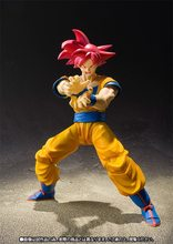 Anime Dragon Ball Z Figuarts SHF Deus Super Saiyajin Goku Joint Movable Ação PVC Figura Coleção Modelo Toy Kids Boneca 16 cm(China)