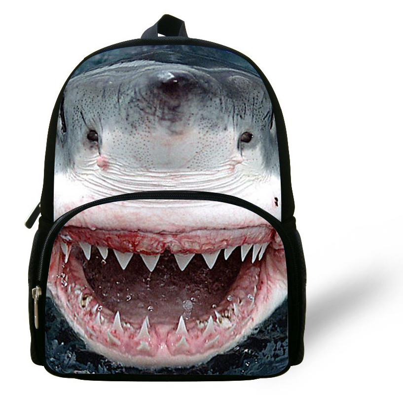 8ed8024b9f62 12-inch Mochila Animal Bag School Great White Shark Backpack Children Girl  Mini Animal Backpack Kids School Bags For Boys