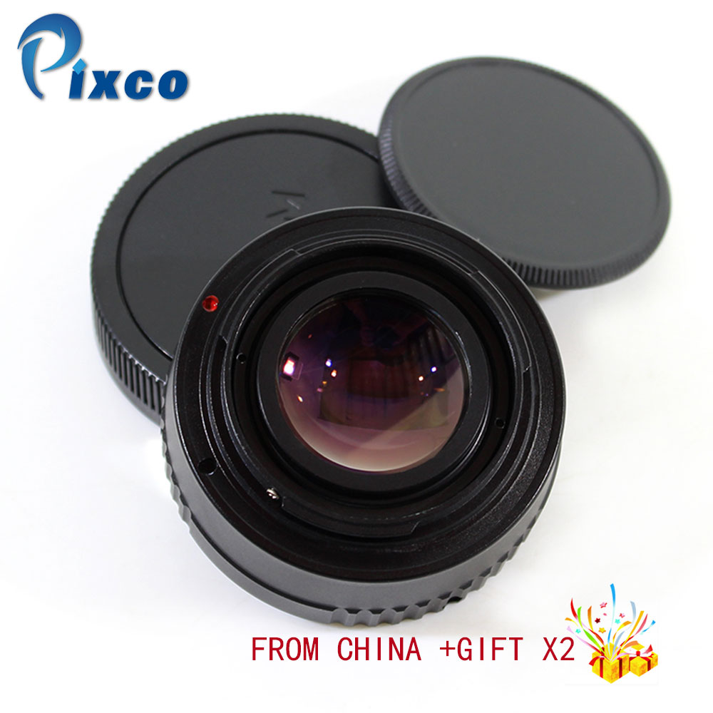 цена на Pixco For EF-EOS M Focal Reducer Speed Booster Turbo Adapter Suit For M42 Lens to Canon EOS M M6 M5 M10 M3 M2 M for Dropshipping