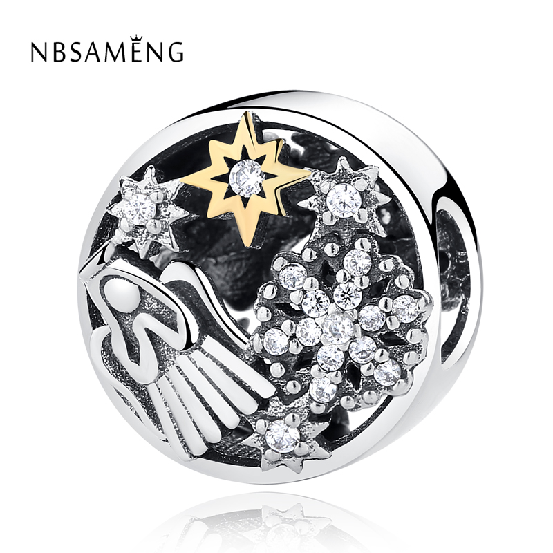 New 100% Authentic 925 Sterling Silver Charm Bead Celestial Wonders Charms Crystals Fit Pandora Bracelets Women DIY Jewelry