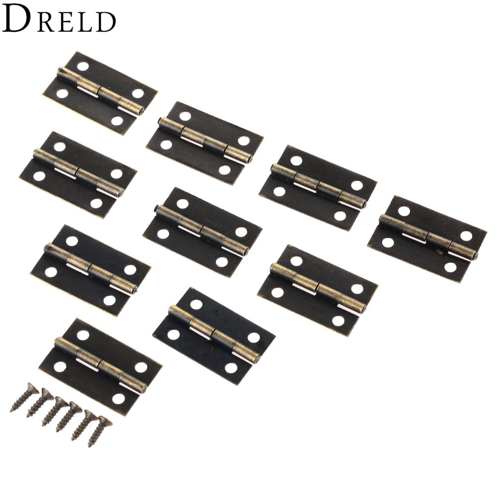 50Pcs 24*16mm Furniture Hinge Cabinet Drawer Door Butt Hinge Antique Wood Jewelry Box Decorative Hinges for Furniture Hardware [haotian vegetarian] antique chinese brass coat detachable door hinge hinge small 9cm