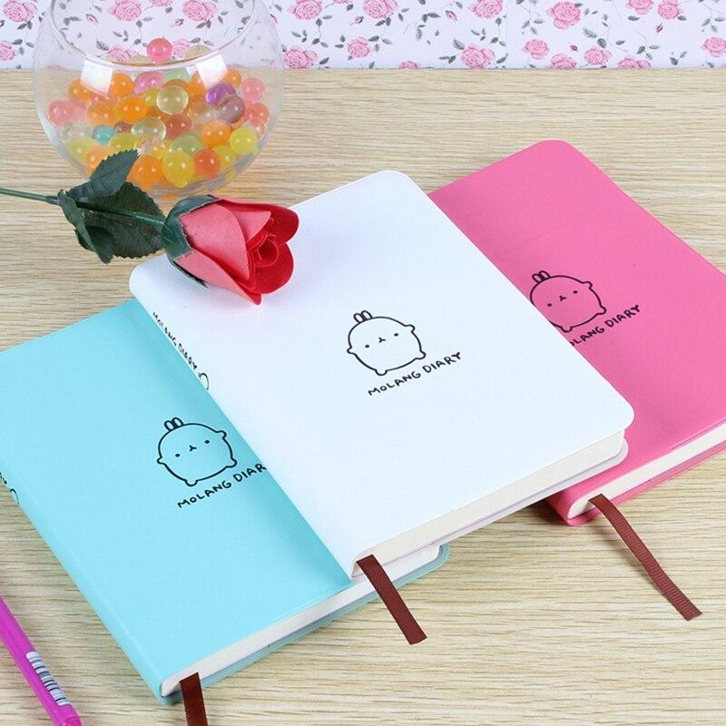 Molang Rabbit Planner Agenda Scheduler Cute Diary Any Year 2017 2018 Calendar Pocket Journal Kawaii School