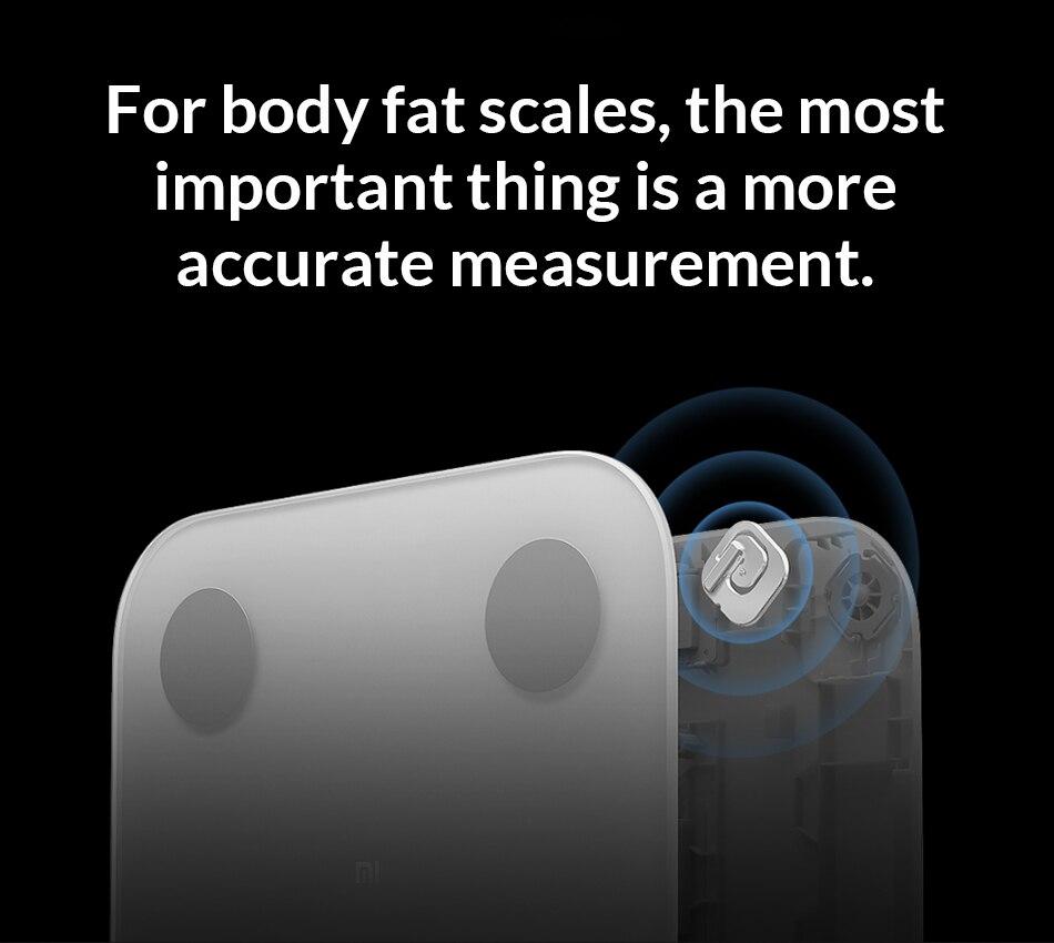 2019 nouvelle échelle de Composition corporelle Xiao mi 2 13 Repots d'analyse échelle de graisse corporelle mi 2 mi ajustement APP contrôle avec affichage de LED caché - 4