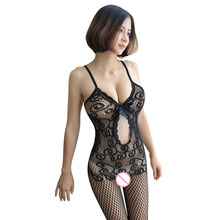 Women Sexy Lingerie Bodystocking Bodysuit Erotic Hollow Out Stockings Crotchless Mesh Female Underwear Lengerie Femenina