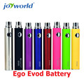 Precio de vapor Ego cigarrillo electrónico evod batería 650 mah ajuste para ce4 atomizador/tanque mt3 evod 650 mah batería vape 5 unids (MM)