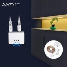 1 m 2 m 3 m 4 m 5 m Altında LED dolap lambası Hareket Sensörü Ile El Süpürme Kontrol Kısılabilir DC 12 V DIY LED Mutfak Dolabı Aydınlatma