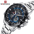 Naviforce Fashion Quartz Watch Casual Wristwatch Sport Watches LED Watch Army Military Wristwatch Men Relogio Free for Regulator