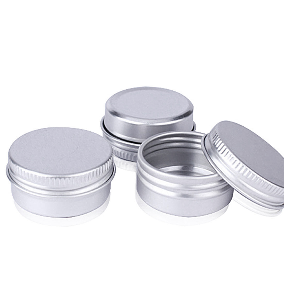 Empty Aluminum Cream Jar Tin Cosmetic Lip Balm Containers Nail Derocation Crafts Pot Bottle Screw Thread