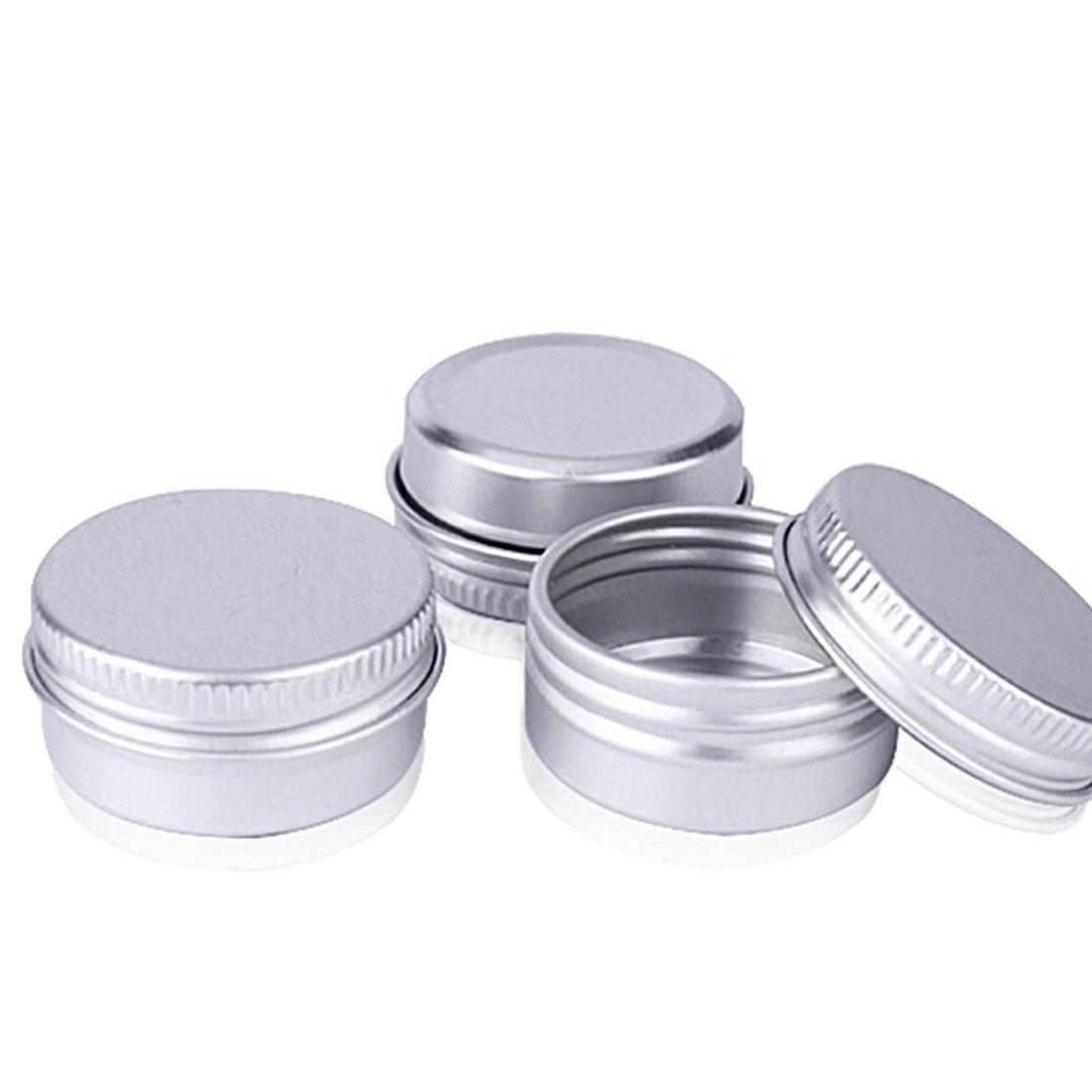 Vazio Lata De Creme De Alumínio Jar Cosméticos Lip Balm Recipientes Prego Derocation Artesanato Pote Garrafa de Rosca