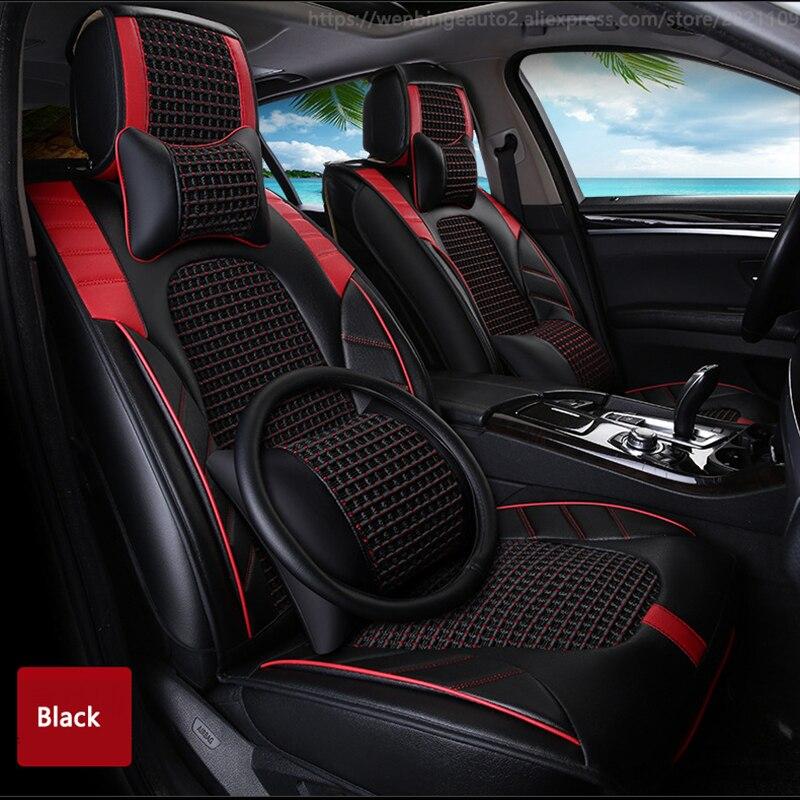 High quality Leather car seat cover for SEAT LEON Ibiza Cordoba Toledo Marbella Terra RONDA automobiles accessories styling