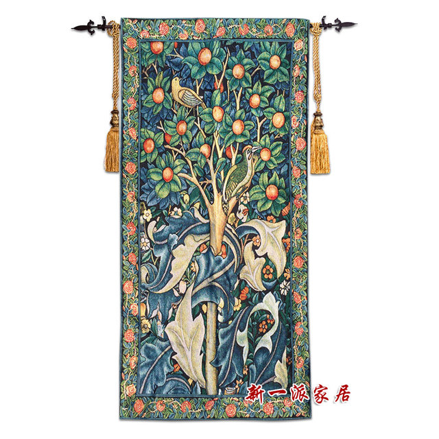 67x140cm William Morris Woodpecker Medieval Wall Tapestry