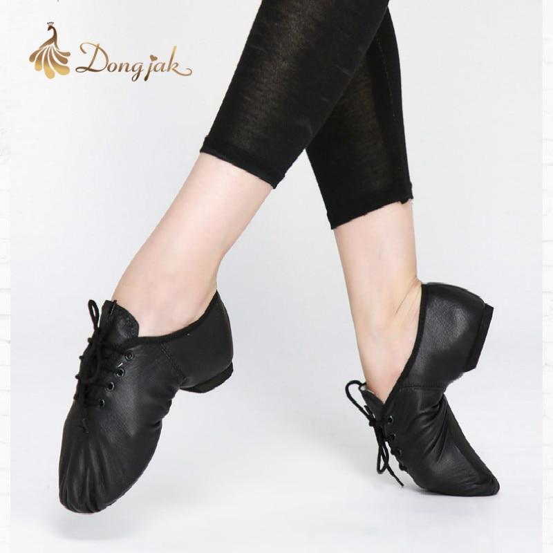 2017 Besplatna dostava Nove Jazz Dance Cipele za odrasle i djecu Udobne Premium Soft krava koža Jazz Dance Shoes T-421