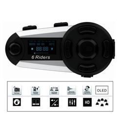 1200M domofon Bluetooth kask motocyklowy interkom zestaw słuchawkowy High Power bezprzewodowy zestaw słuchawkowy Bluetooth Interphone z radiem FM